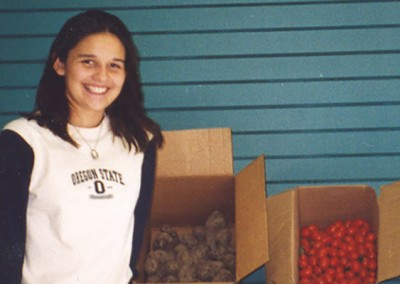 Kristen - Organized numerous gardening projects in which people have learned to garden and have donated 1,300 pounds of produce to area food banks.