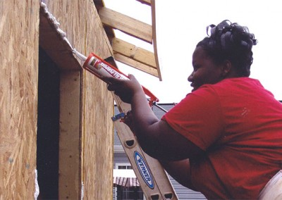 Reonda - Led her Girl Scout troop and others in building the first Habitat for Humanity house in North Carolina built entirely by women.
