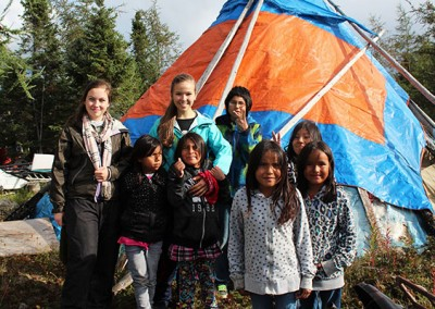 Books with No Bounds provides reading material to First Nations children in Northern Canada.