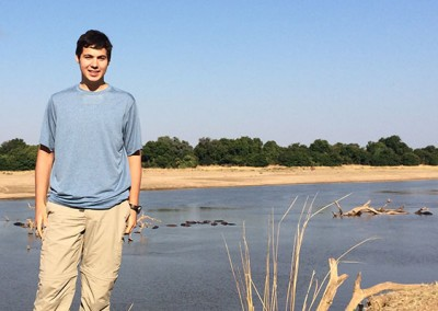 Josh in South Luangwa National Park, Zambia. South Luangwa is known for its large elephant population.