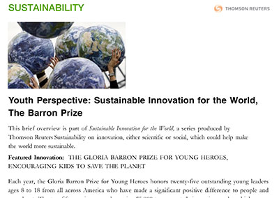 Youth Perspective Reuters Sustainability April, 2015