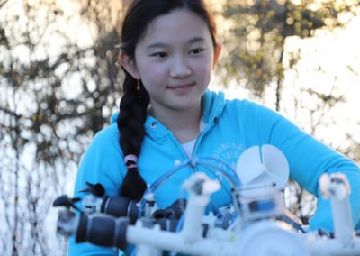Anna with her Remotely Operated Vehicle