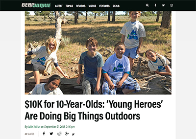 $10K for 10-Year-Olds:'Young Heroes'…GearJunkie.comSeptember, 2018
