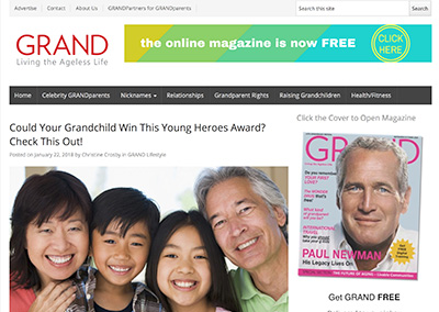 Could Your Grandchild Win This…Grand MagazineJanuary, 2018