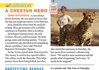 A Cheetah HeroTime for KidsApril, 2018