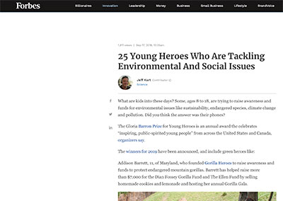 25 Young Heroes Who Are Tackling…Forbes.comSeptember, 2019