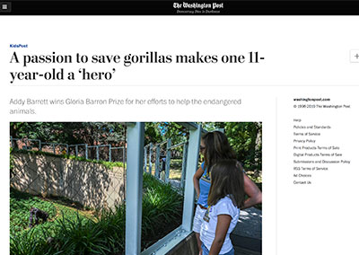 A passion to save gorillas makes…The Washington PostSeptember, 2019